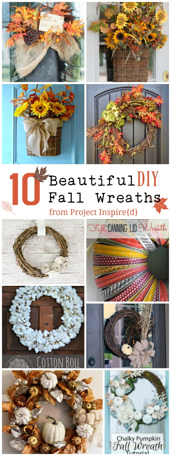 10 Beautiful Fall Wreath to add a touch of autumn to your front door or  mantle