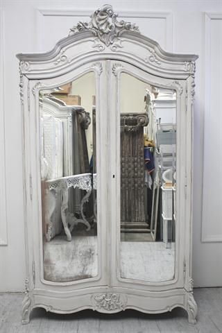Armoire- love the mirrors                                                                                                                                                                                 More