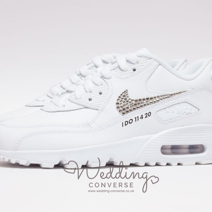 Nike Wedding Shoes Air Max 90 L Custom Bride Nike Wedding Trainers Wedding Sneakers Blue Bridal Shoes Blue Bride