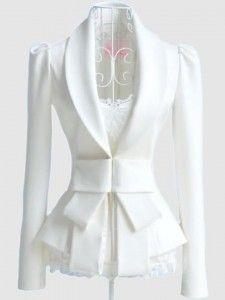 dressy white coat
