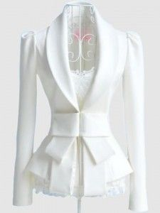 Couture Ivory Bow Jacket