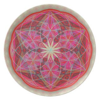 Yoga Mandala Meditation Mantra Party Plate