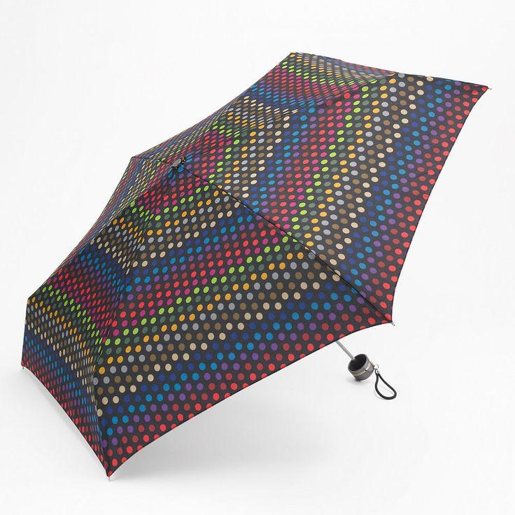 Totes Fashion Mini Folding Umbrella, Oxford