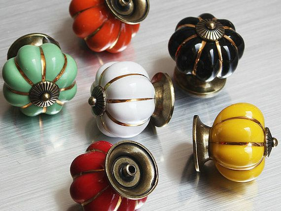 from china knob plunger suppliers ceramic cartoon pumpkin knobs dresser drawer pull handle kitchen cabinet door knobs classic vintage pumpkin door pull