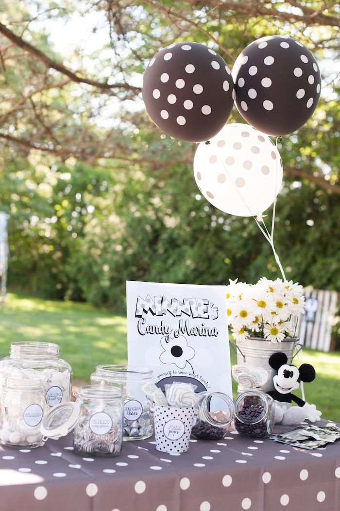 Minnie's Candy Marine from a Steamboat Willie Classic Mickey Mouse Birthday Party on Kara's Party Ideas | KarasPartyIdeas.com (9)