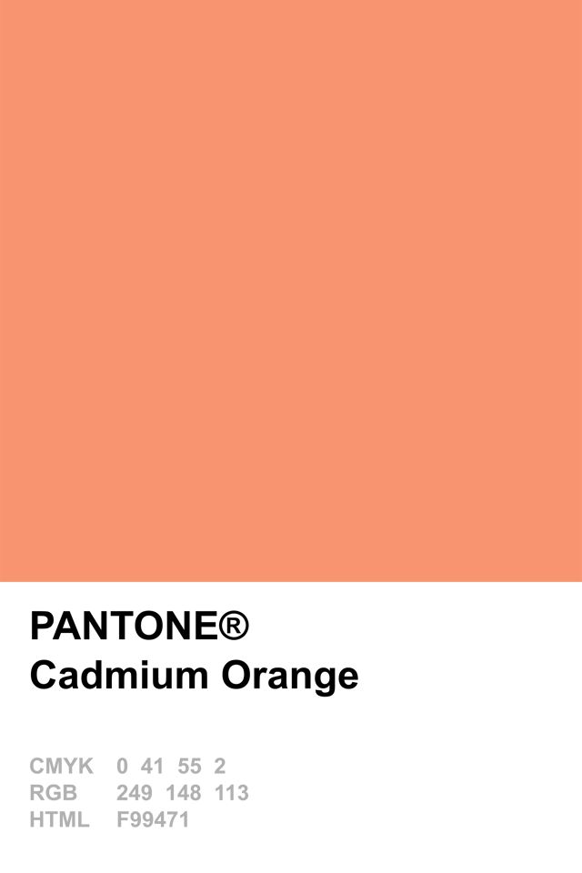 Pantone 2015 Cadmium Orange