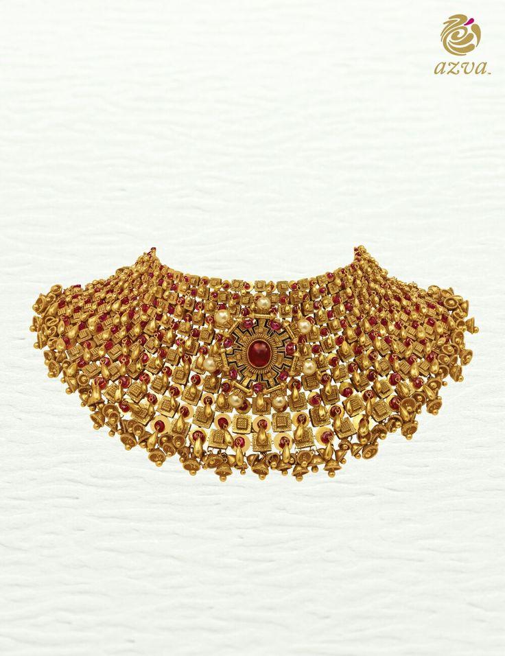 Azva modern bridal gold showstopper. #Goldjewellery #luxury #style