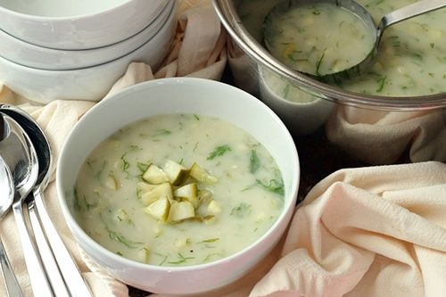Dill Pickle Soup | Wheat-Free Meat-Free: Heck Yeah, Fun Recipes, Dill Pickled Soups Recipes, Dill Pickle Soup, Vegans Pickled Soups, Vegans Dill Pickled Soups, Vegetarian Soups, Pickle Soups, Vegetarian Recipes