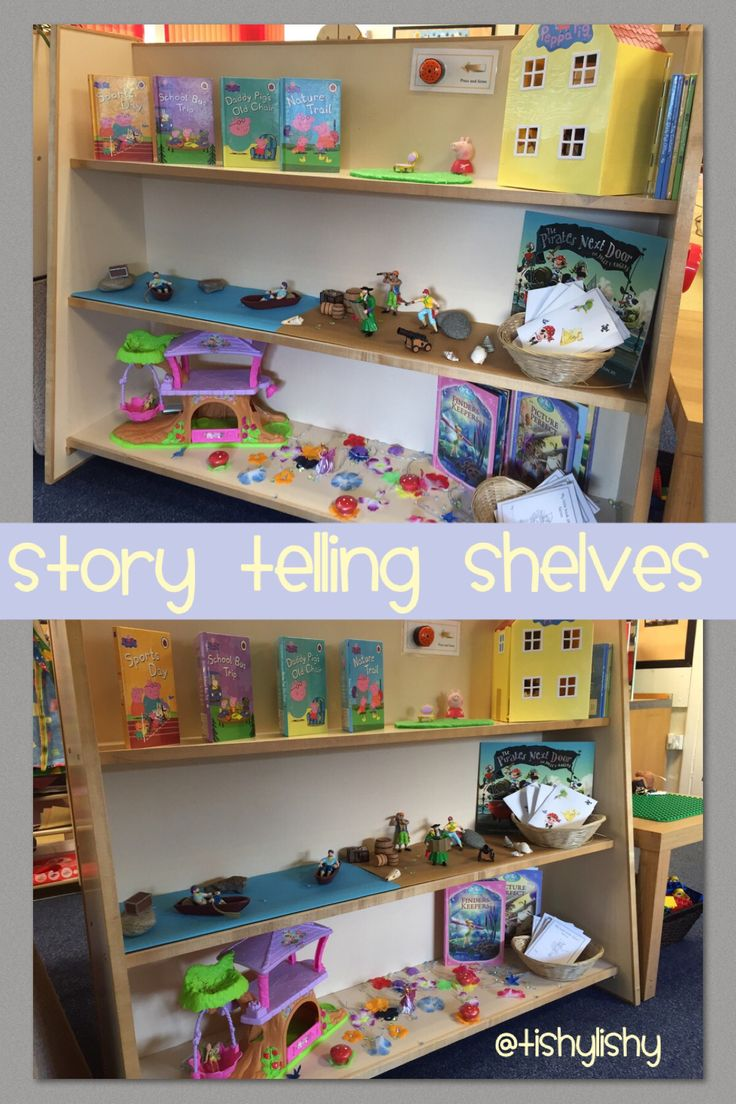 Story telling shelves. Summer term.