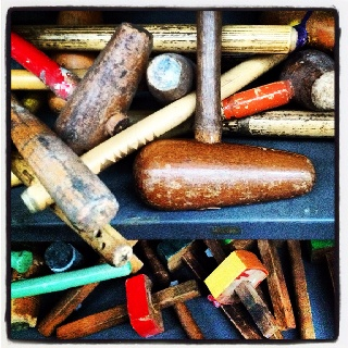 Vintage mallets & marking out tools