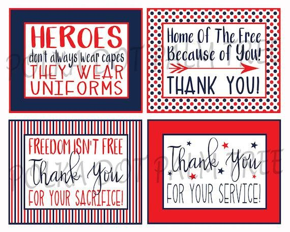 photograph relating to Military Thank You Cards Free Printable known as Quick Down load Printable Veteran Navy Patriotic Thank