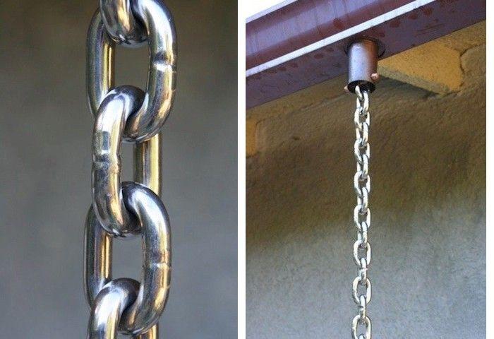 Stainless Steel Rain Chain ; Gardenista