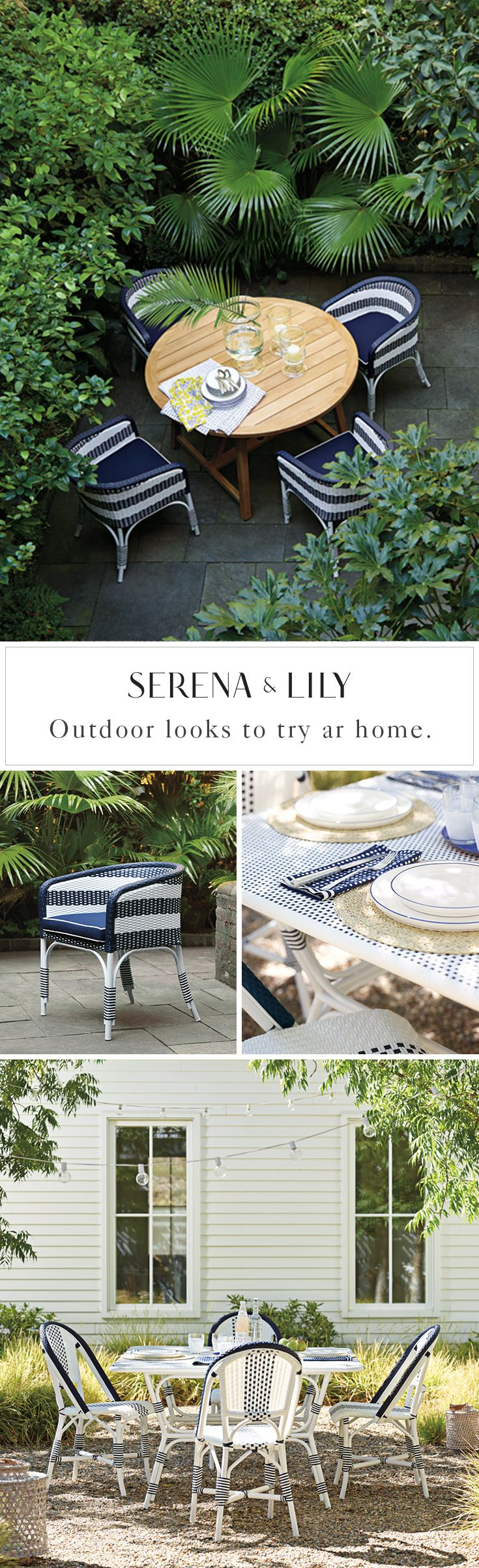 Our new outdoor French bistro chair collection will transport you to the French Riviera. Find your favorite today and bring la belle vie home.