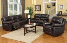 3 PC Livingroom Set Includes: Motion Sofa, Motion Loveseat & Rocker Recliner / 8253
