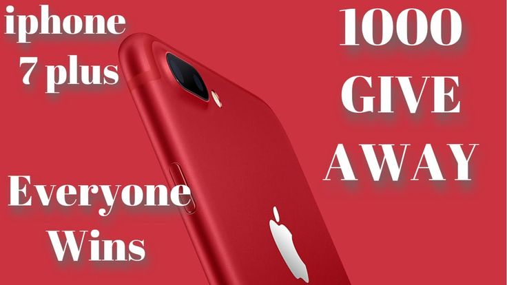 🔴1000 IPHONE 7 PLUS 🔥FREE GIVEAWAY! (665 LEFT!) Legit GiveAway! - YouTube