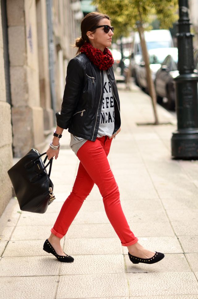 Colored denim is a favorite trend!
