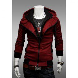 $14.90 Casual Faux Twinset Polyester Hooded Spring Sweater For Men