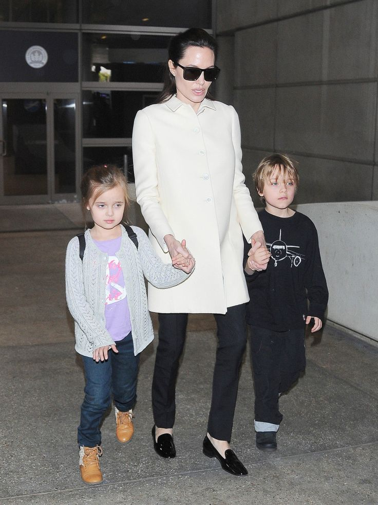 Vivenne & Knox Jolie-Pitt Emerge At Airport In Rare Public Appearance With Beautiful Mom Angelina Jolie - http://oceanup.com/2015/02/11/vivenne-knox-jolie-pitt-emerge-at-airport-in-rare-public-appearance-with-beautiful-mom-angelina-jolie/