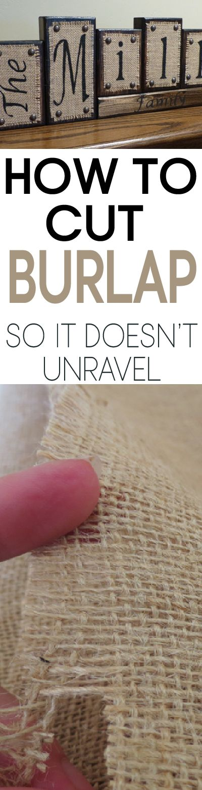 Burlap can be tricky to work with, learn the easy way to cut burlap with out it raveling