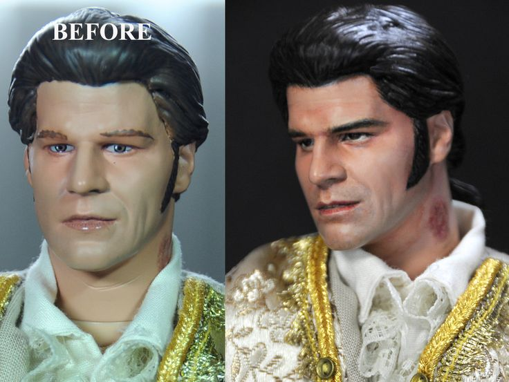 David Boreanaz as Liam /Angelus doll repaint by noeling on DeviantArt