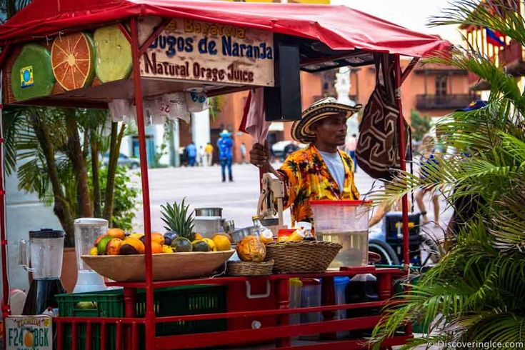 Fruit juice on the street in Cartagena, Colombia