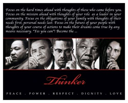 Thinker (Quintet) Peace, Power, Respect, Dignity, Love Poster Print (10 x 8) - Item # TELAV924
