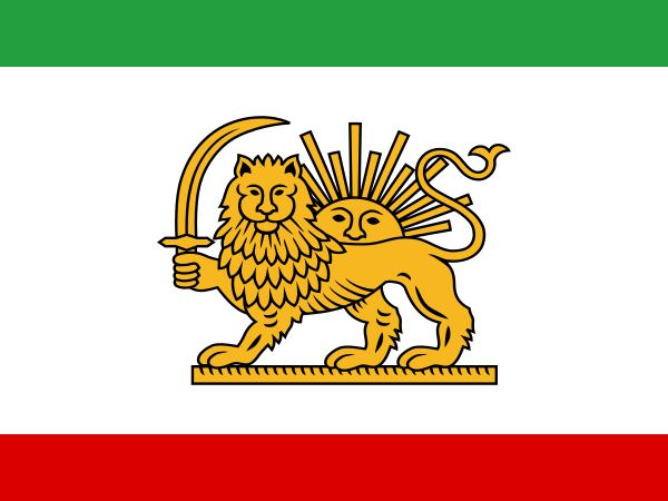 Tricolour flag designed by Amir Kabir