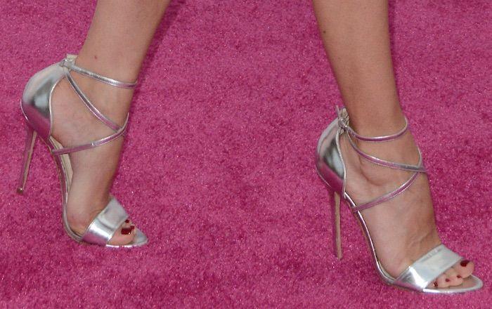"""Diane Kruger in Brian Atwood """"Tamara"""" sandals"""