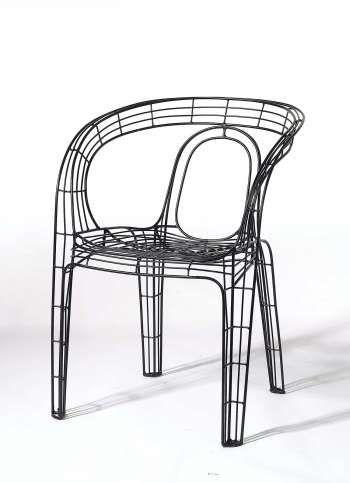 ZUIVER Sessel schwarz
