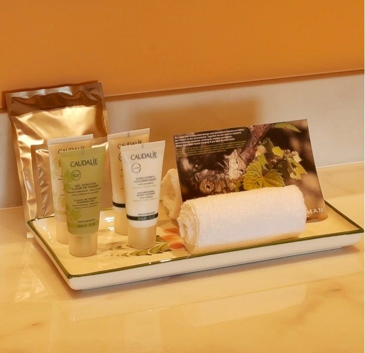 Bathroom featuring Caudalie® amenities #Porto #Theyeatman
