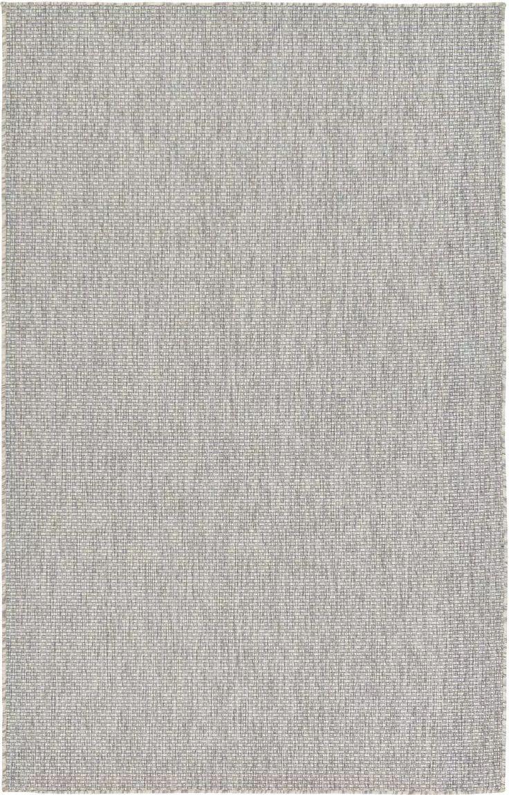 Light Gray 5' x 8' Outdoor Solid Rug   Area Rugs   eSaleRugs