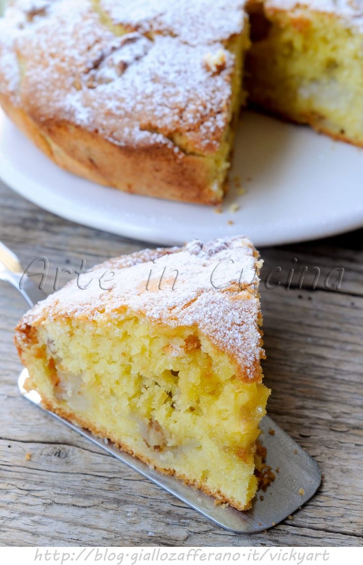 Cake with pears and walnuts - Torta con pere e noci morbida ricetta facile vickyart arte in cucina