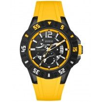 GUESS Magnum Yellow Rubber Strap W0034G7
