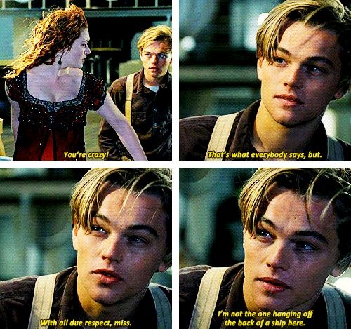 titanic rose and jack first meet scene
