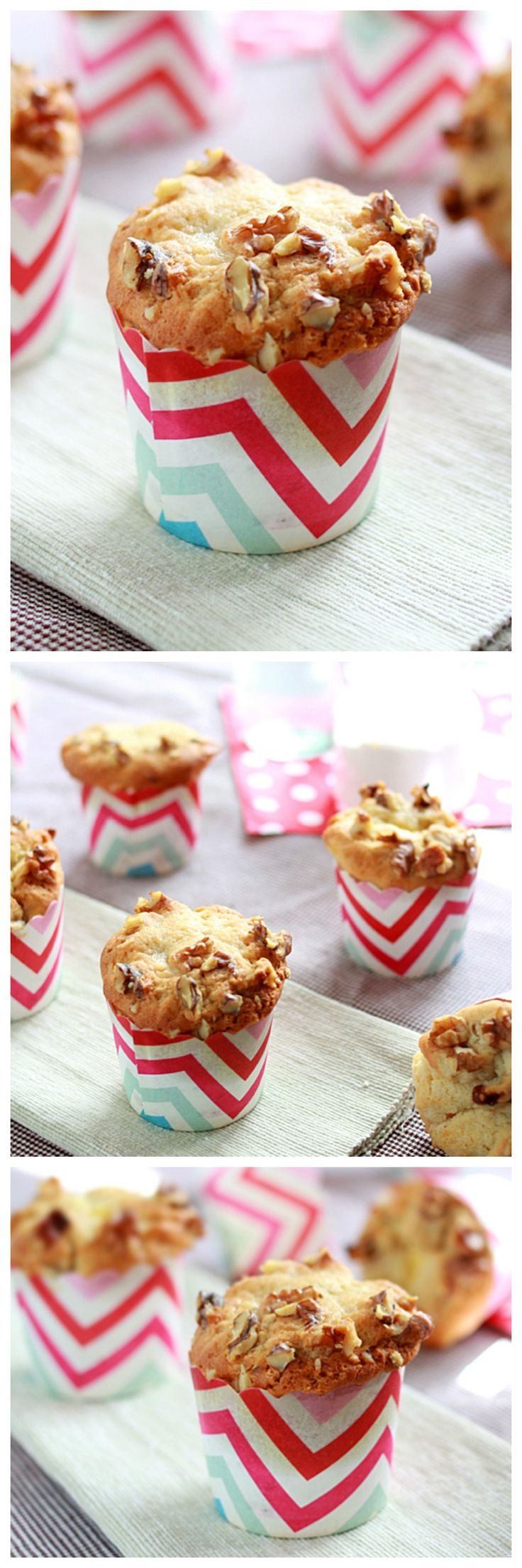 Banana Cream Cheese Muffins. The sweetest  and creamiest muffin recipe ever. It's like eating banana muffin and cheesecake together in one bite | rasamalaysia.com