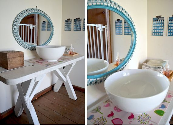 Montessori at home - DIY toddler washstand by Patchwork Cactus Blog. Practical life activities.