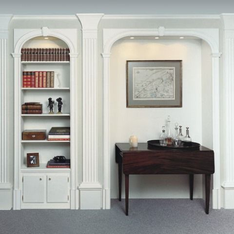 """Orac Decor. Коллекция """"Orac Luxxus"""". Библиотечные системы. Украшение стеллажей и полок. Декор из полеуртана."""