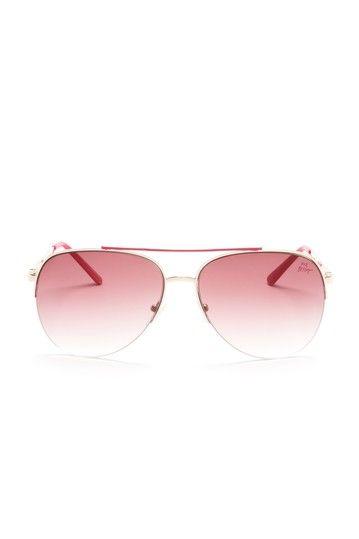 Betsey Johnson  Women's Aviator Sunglasses  $24.00