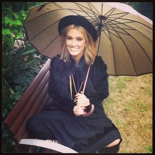 And when her hair looked perfect despite the rain. | 21 Times Delta Goodrem Gave You Massive Hair Envy