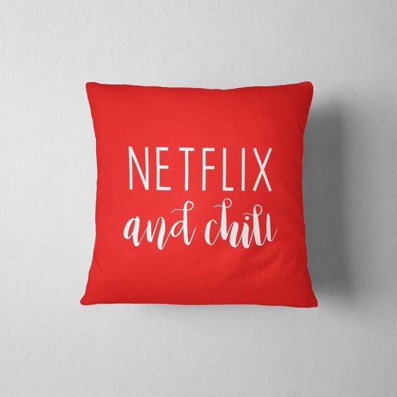 Netflix And Chill Decorative Pillow 16x16 College Dorm Home Decor Throw Pillow Dorm Decor College Gift Funny Gift Dorm Room