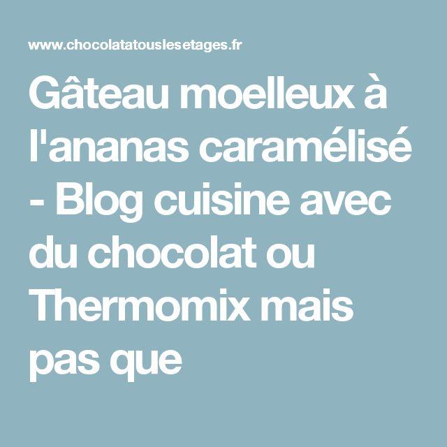 Gâteau moelleux à l'ananas caramélisé - Blog cuisine avec du chocolat ou Thermomix mais pas que