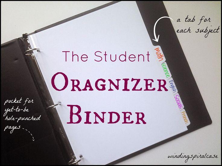 Student Organizer Binder -- how I kept my study notes organized in high school, university, and medical school