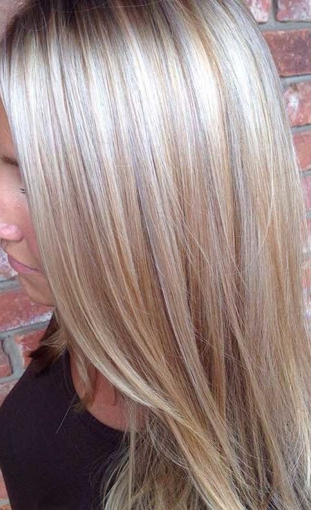blonde hair with silver highlights 2016                                                                                                                                                                                 More