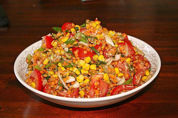 Roter Linsen - Salat, ein schönes Rezept aus der Kategorie Gemüse. Bewertungen: 67. Durchschnitt: Ø 4,1.