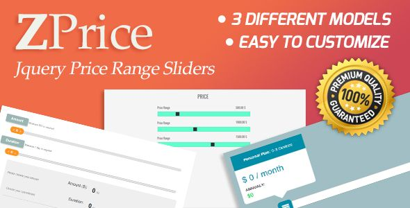 cool ZPrice - Jquery Cost Variety Sliders (Miscellaneous)