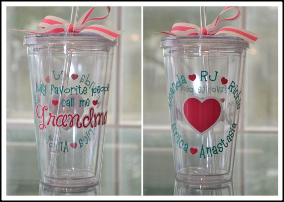 Grandma Tumbler Personalized With By Anchoravenuedesigns