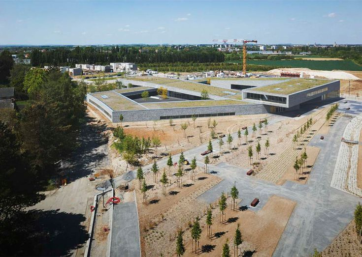 zigzag architecture completes sustainable school in france
