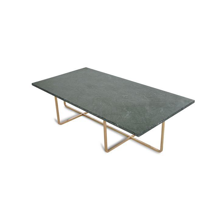 Ninety Soffbord 120x60x30 cm, Grön Marmor/Mässing, OX Denmarq