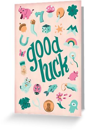 11 best illustration good luck images on pinterest good luck good luck greeting card by elizabeth levesque m4hsunfo Choice Image