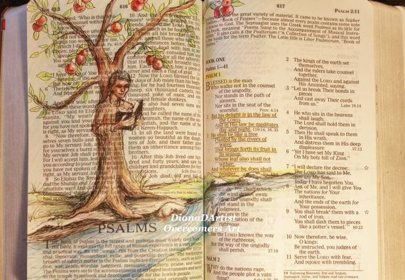 Psalm 1  Delight in the law of the Lord and by OvercomersArt, $18.00